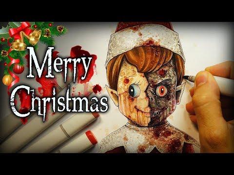 """Merry Christmas"" Horror Story - Creepypasta + Drawing"