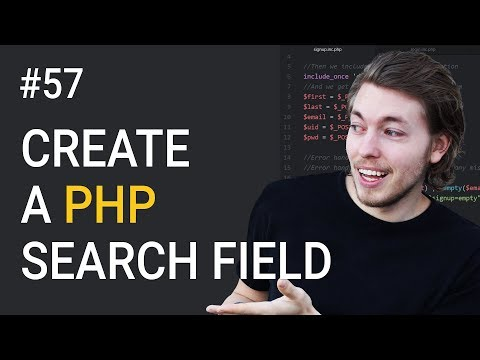 57: How to create a search field with PHP and MySQLi | PHP tutorial | Learn PHP programming