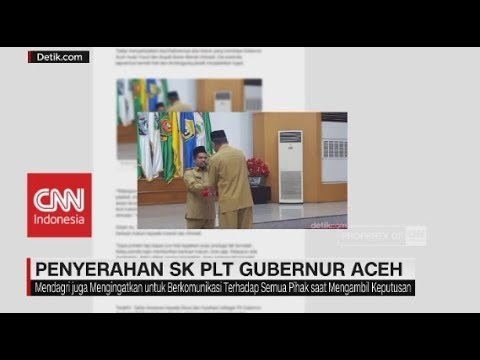 Penyerahan SK PLT Gubernur Aceh