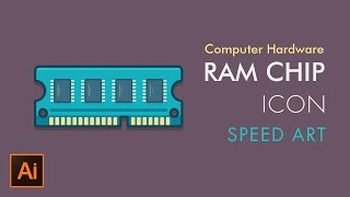 How to Draw RAM Memory Chip Icon | Speed Art | Illustrator Tutorial