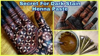 How to make Henna paste for Dark Stain | Learn Mixing Henna paste for Darker Mehndi Stain