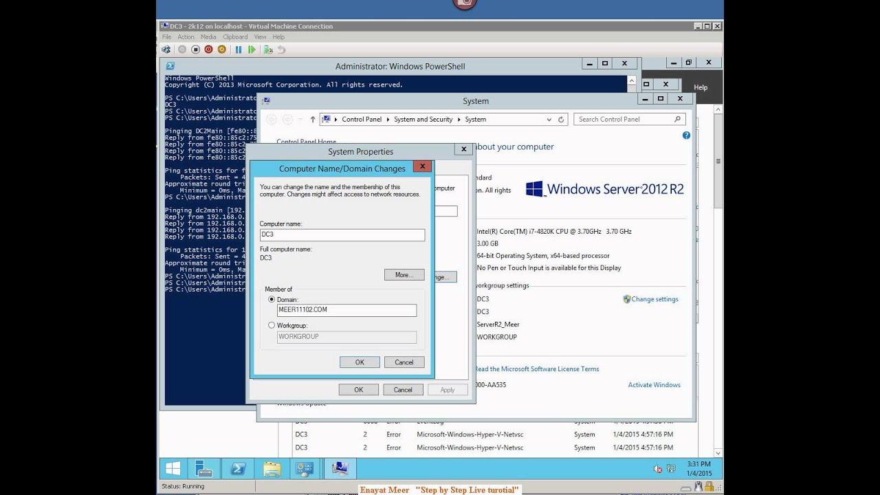 Server 2012R2 Remote Management by Enayat Meer   20410D M4