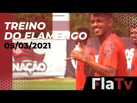 TREINO FLAMENGO – Última atividade para o jogo contra o Macaé