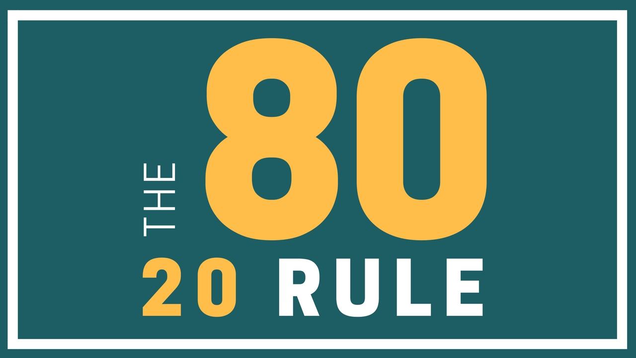 Резултат слика за Follow the 80/20 rule