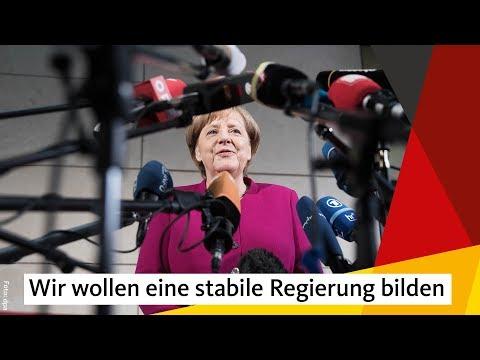 Angela Merkel zum Beginn der Sondierungsgespräche von CDU/CSU und SPD.