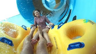Double Spin Water Slide at Ocean World