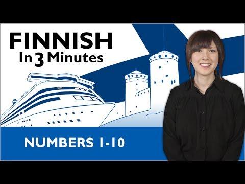 Learn Finnish - Finnish in Three Minutes - Numbers 1-10