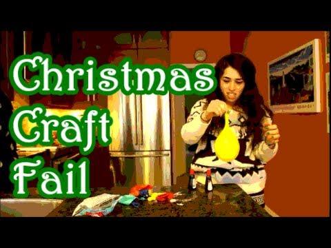 Diy Christmas Craft Fail Youtube