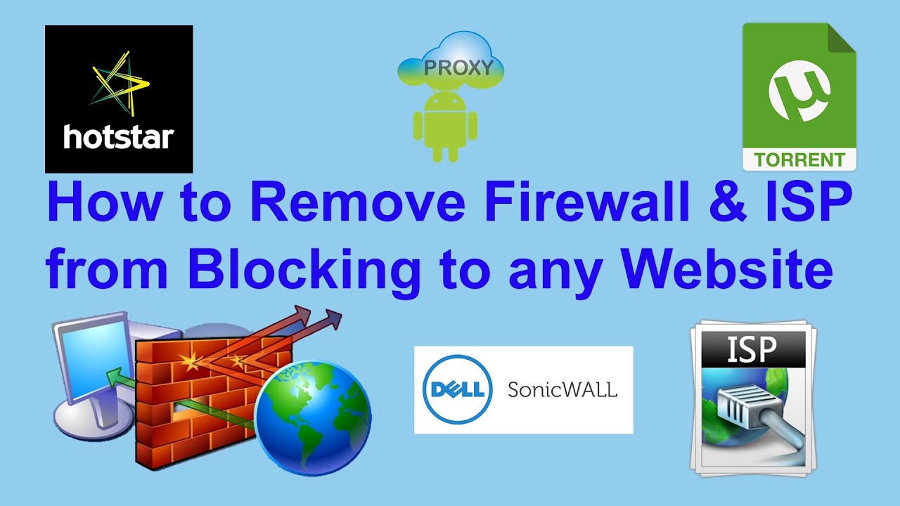 Remove Firewall & ISP from Blocking to any Website | Som Tips