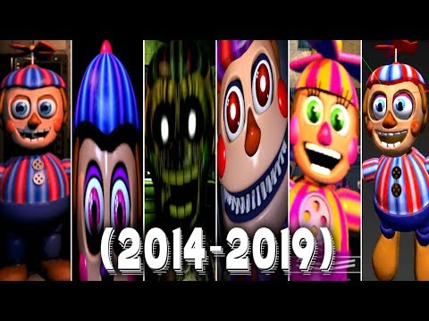 Evolution of Balloon Boy in Five Nights at Freddy's to FNAF VR Help Wanted (2014-2019)