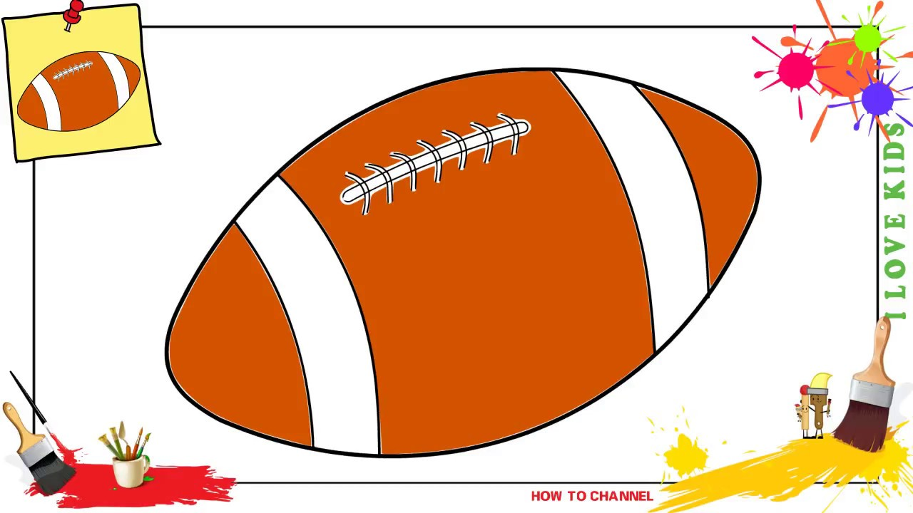 How To Draw A Football Ball Easy Step By Step For Kids Beginners Children Youtube
