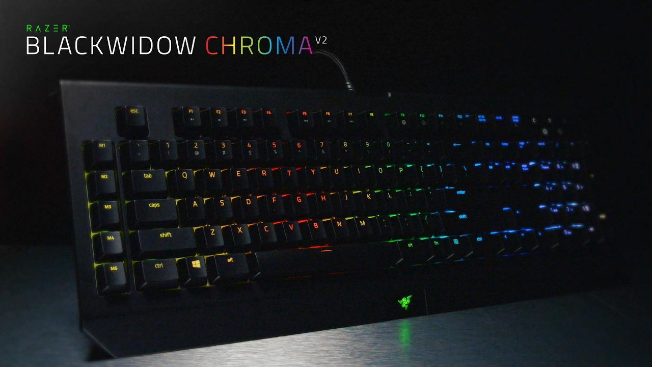 The Razer BlackWidow Chroma V2 - YouTube