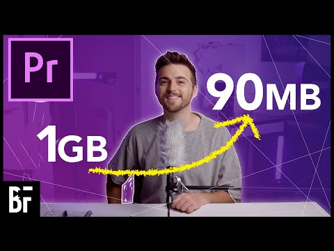 Export Videos with Small File Sizes in Premiere