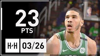 Jayson Tatum Full Highlights Celtics vs Suns (2018.03.26) - 23 Pts!