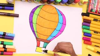 Parachute Drawing For Kids How To Draw Parachute || MY KIDS RHYMES