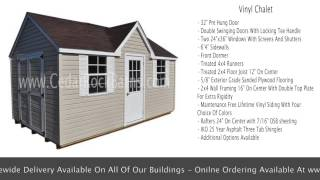 Vinyl Chalet Portable Storage Shed