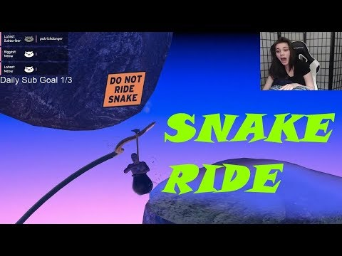 TwitchMadness - Getting Over It - Streamers Ride Snake! #2 (Compilation)
