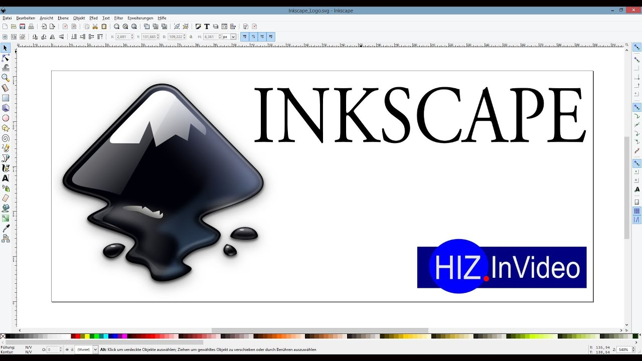 Inkscape Grafikprogramm Hiz027 Youtube