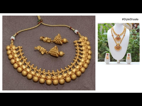 South Indian Bridal Jewellery 2017 Unique Gold Designs YouTube