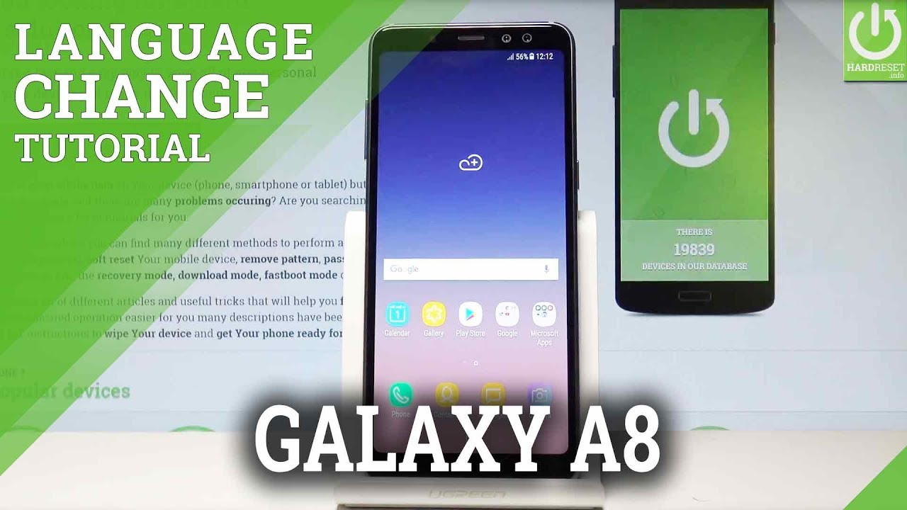 How To Set Up Language In Samsung Galaxy A8 2018