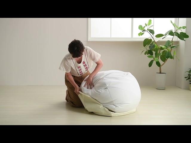 【ハナロロ】オニオンクッション170L レザーカバー取り付け方法 【hanalolo】