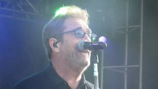 "Huey Lewis & The News performing their first song of the day, ""Hear..."