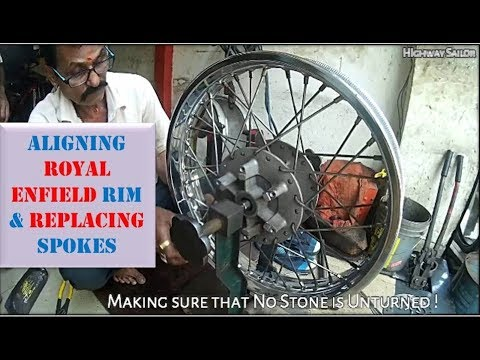 How to align Royal Enfield Rim  | Replacing the Spokes