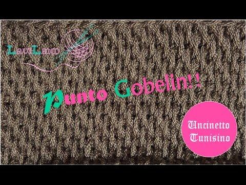 Uncinetto Tunisino Punto Gobelin Gobelin Stitch Youtube