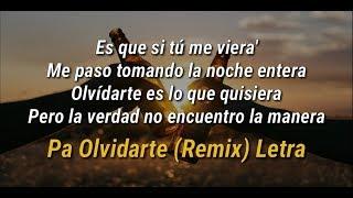 Pa Olvidarte Remix (Letra) ChocQuibTown, Zion & Lennox, Farruko ft. Manuel Turizo