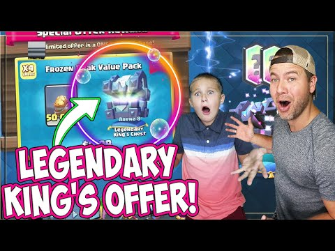 LEGENDARY KING'S CHEST OFFER IS BACK! Triple Wizard DECK for the WIN!