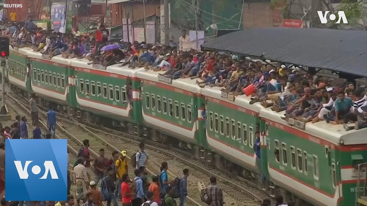 Mass Exodus of Travelers in Bangladesh for Eid al-Adha