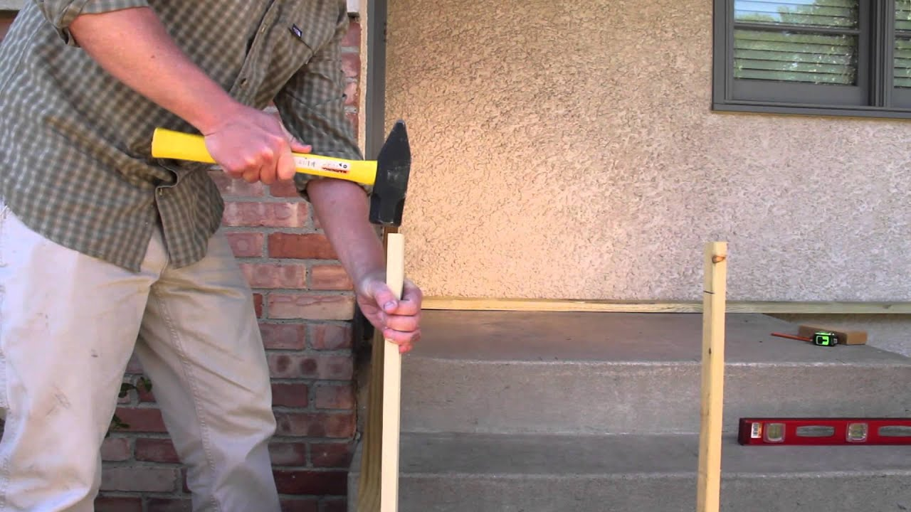 Framing Around Concrete Stairs Youtube