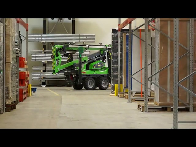 Leguan Lifts in action: L135 AWD industrial access for facility maintenance (2015)