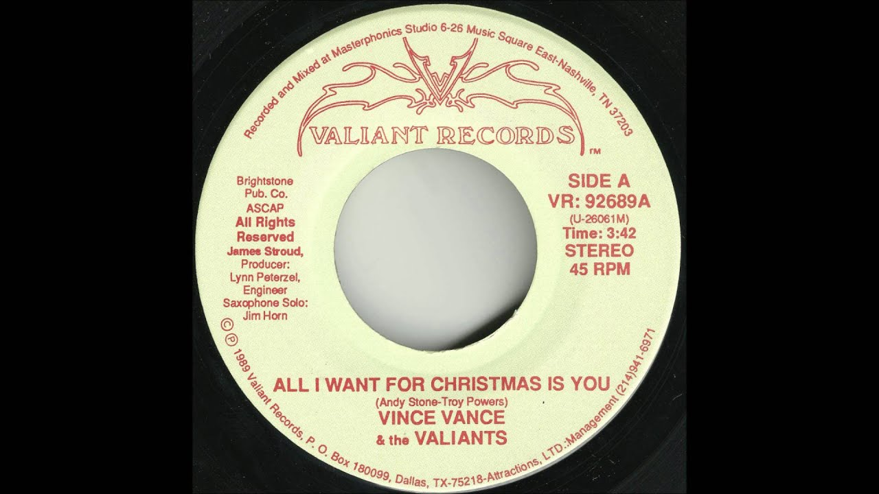 Vince Vance & The Valiants - All I Want For Christmas Is You - YouTube