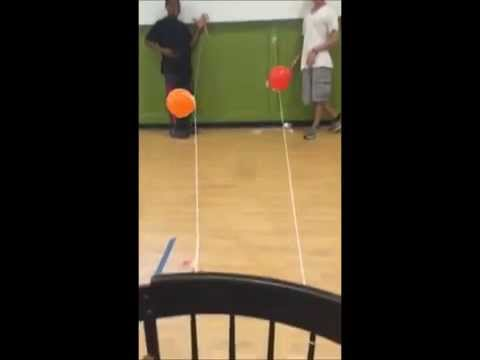 Ivy Street School Science Group - Balloon Rocket Race