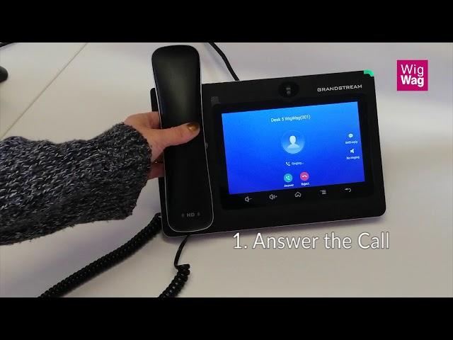 Grandstream GXV3370 Attended Call Transfer - WigWag Business Phones