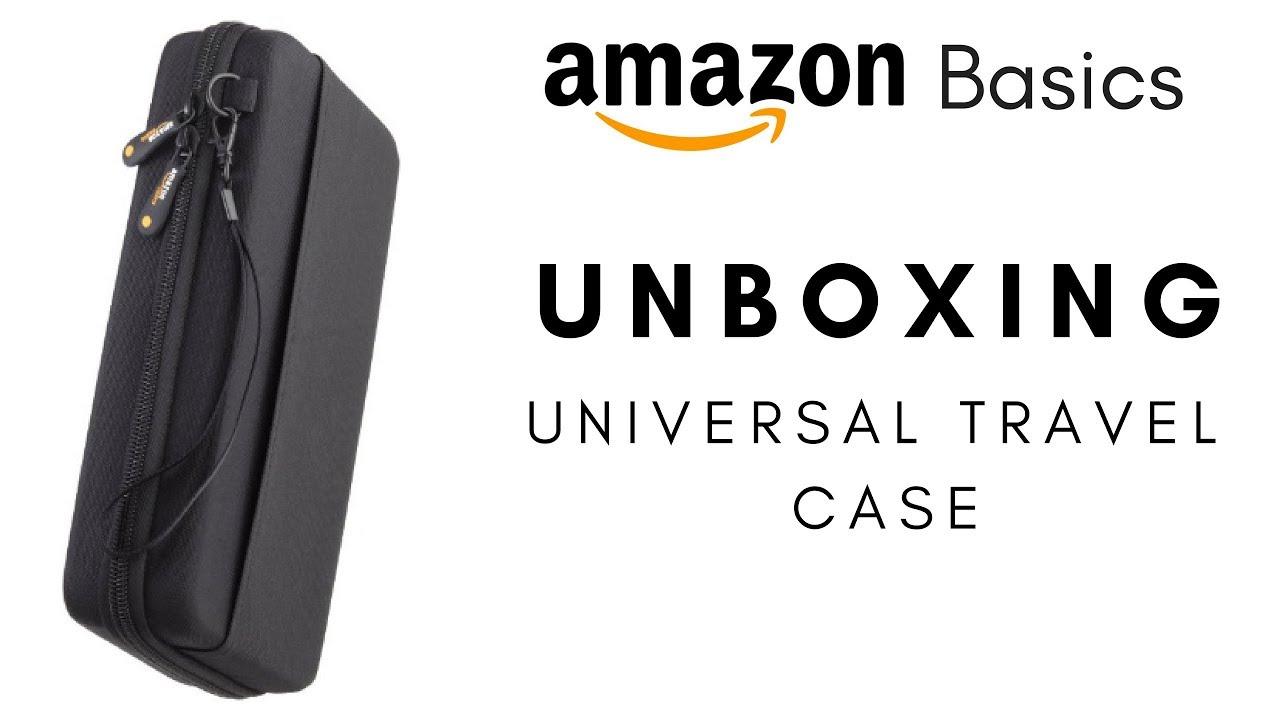 amazon basics unboxing universal travel case for small electronic