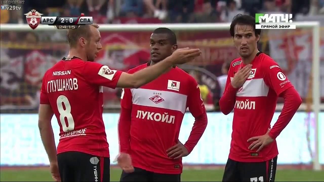 Арсенал 3:0 Спартак Обзор Матча 21/05/2017 HD