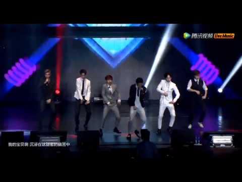 [中字live]150629 BOYFRIEND(보이프렌드) -   I YAH (아이야) + OBSESSION(너란 여자)  2015上海演唱会