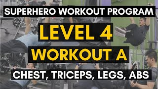 Vid. 33: WORKOUT A (Level 4) | Chest, Triceps, Legs, Abs | Pinoy Fitness