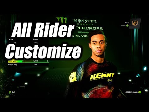 All Rider Customization Monster Energy Supercross: The Official Videogame