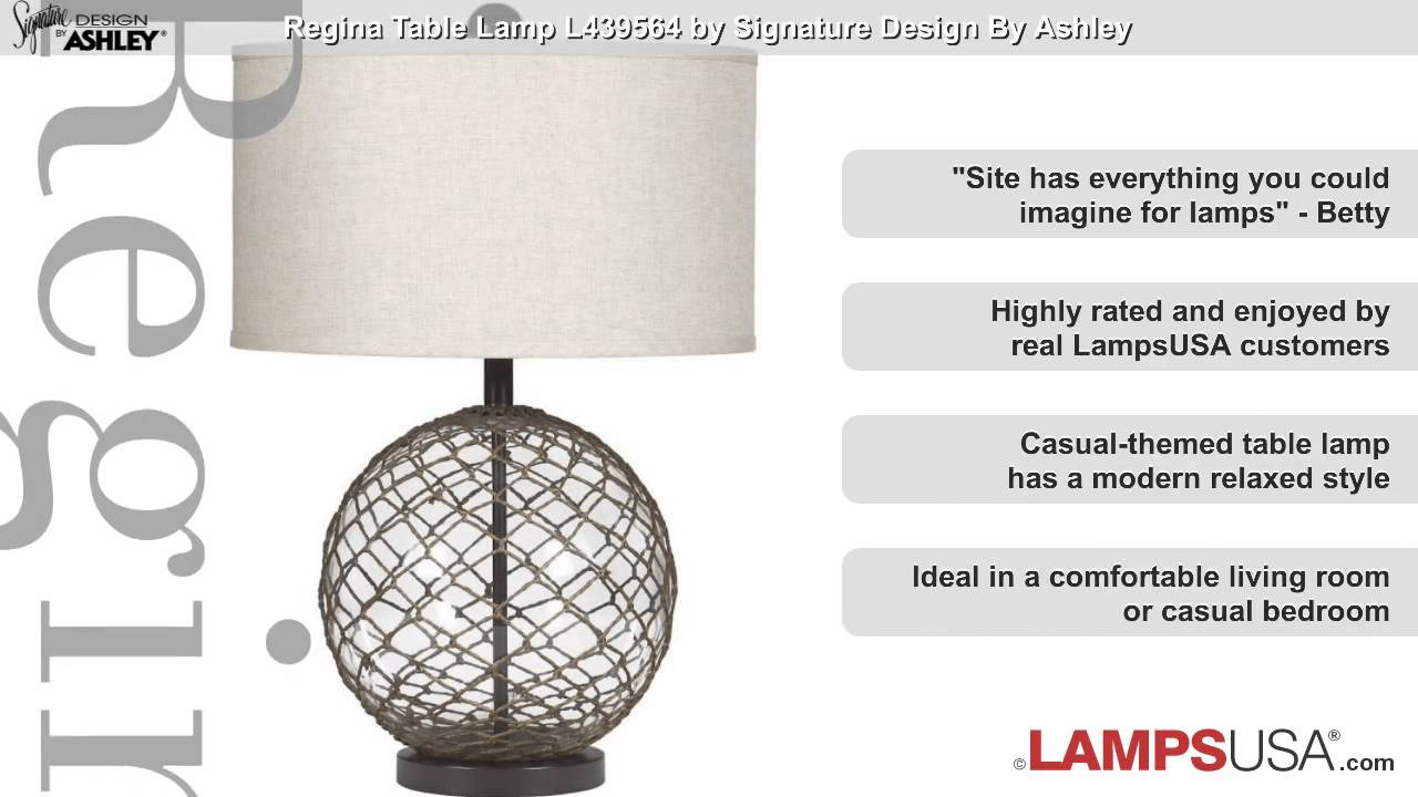 Ashley regina 1 light 3 way table lamp brown l439564 youtube ashley regina 1 light 3 way table lamp brown l439564 lampsusa aloadofball Image collections