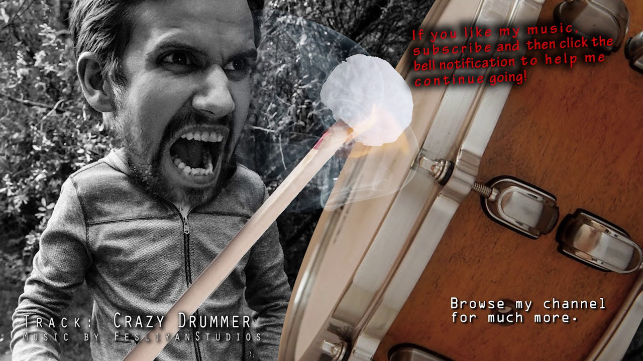 The Crazy Drummer - Epic Dramatic Background Drums Music for videos - Dark  Dramatic soundtrack score