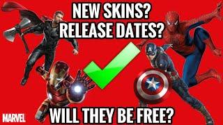 FORTNITE AVENGERS SKINS RELEASE DATES! (Spiderman,Iron Man,Captin américain,Thor) libre? La vérité!