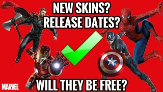 FORTNITE AVENGERS SKINS RELEASE DATES! (Spiderman,Iron Man,Captin American,Thor) FREE? THE TRUTH!