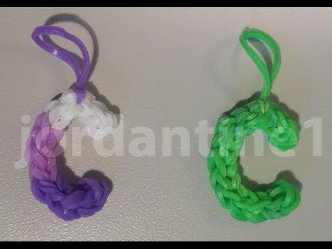 Skinny Letter C Alphabet Charm - Rainbow Loom, Wonder Loom, Crazy Loom, Bandaloom