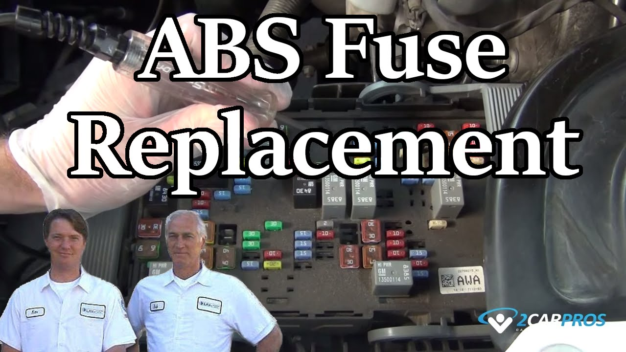 Abs Fuse Replacement Youtube Main Box 2005 Ssr