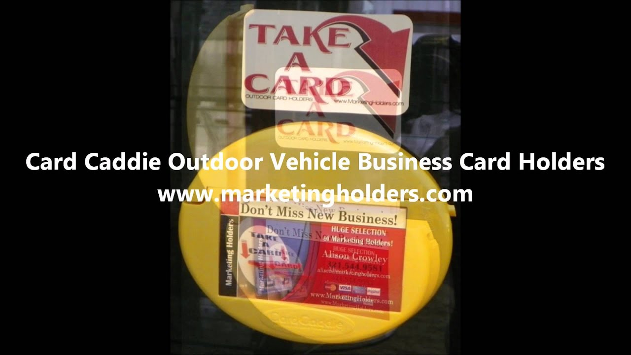 Card Caddie Outdoor Vehicle Business Card Holders. - YouTube