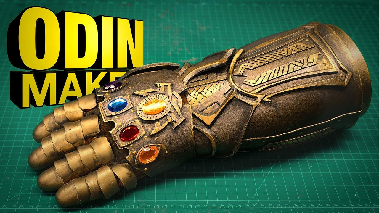 odin makes the infinity gauntlet from avengers infinity war youtube