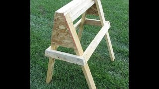 Homemade Sawhorse - Very Strong